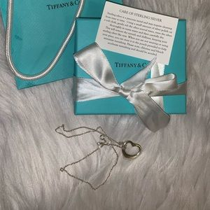 Tiffany and Co Elsa Peretti Heart Necklace